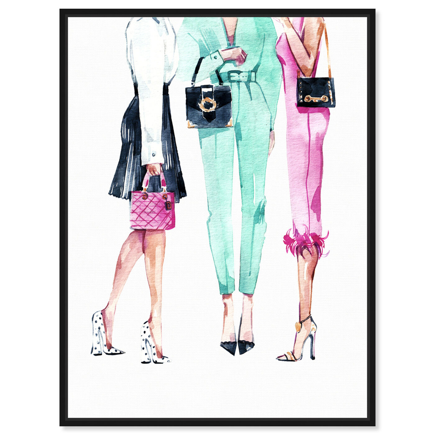 Front view of Ladies Like Us featuring fashion and glam and outfits art.