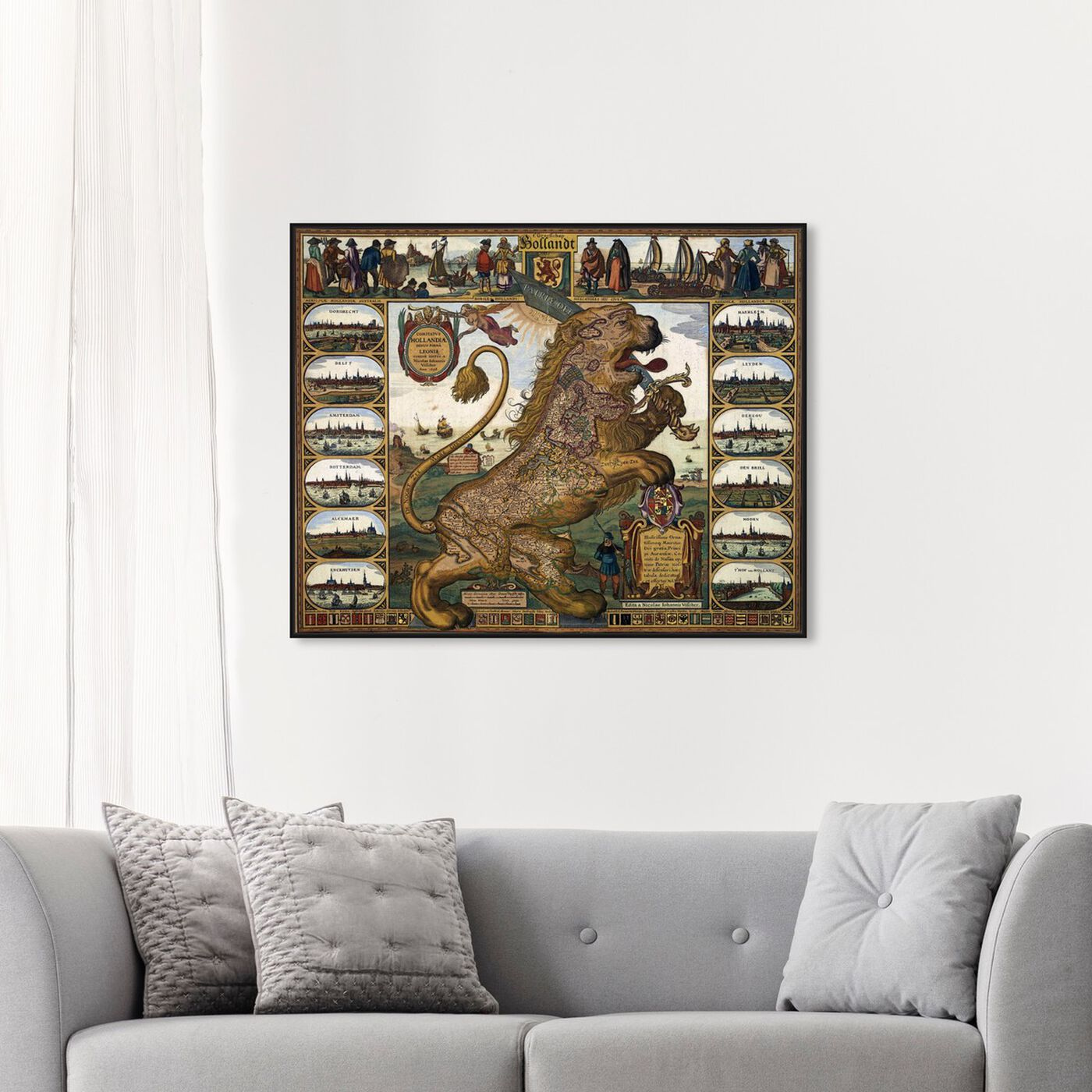 Hanging view of Leo Hollandicus 17th featuring astronomy and space and zodiac art.