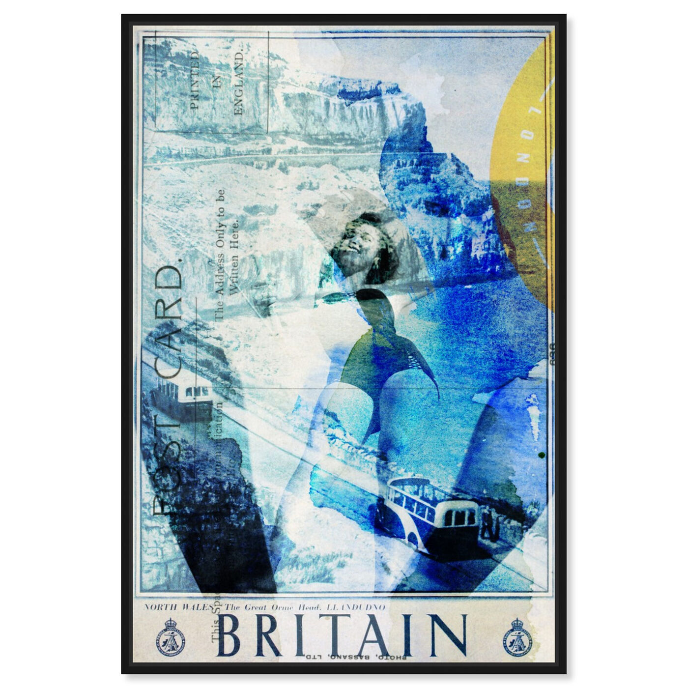 Front view of Britain featuring advertising and posters art.
