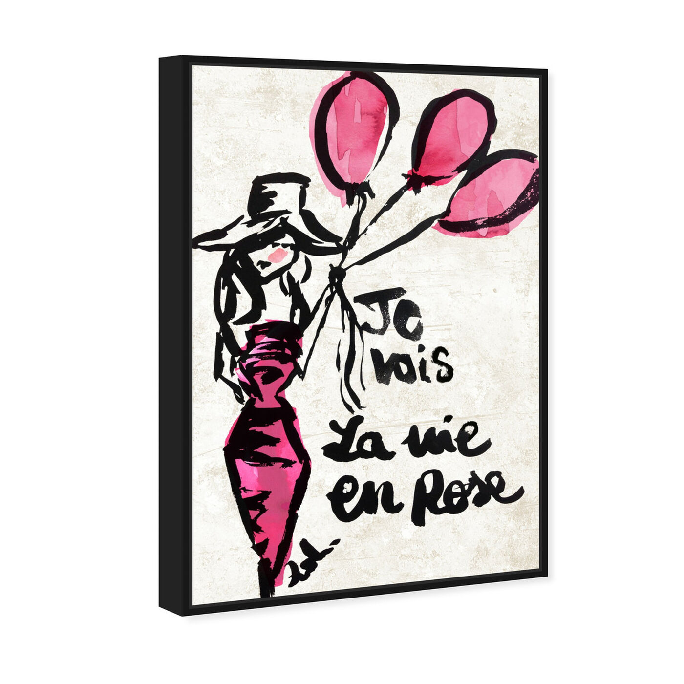 Angled view of La Vie En Rose featuring fashion and glam and dress art.