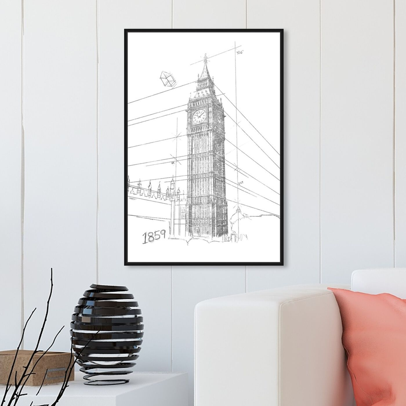 Hanging view of Big Ben Silver featuring architecture and buildings and european buildings art.