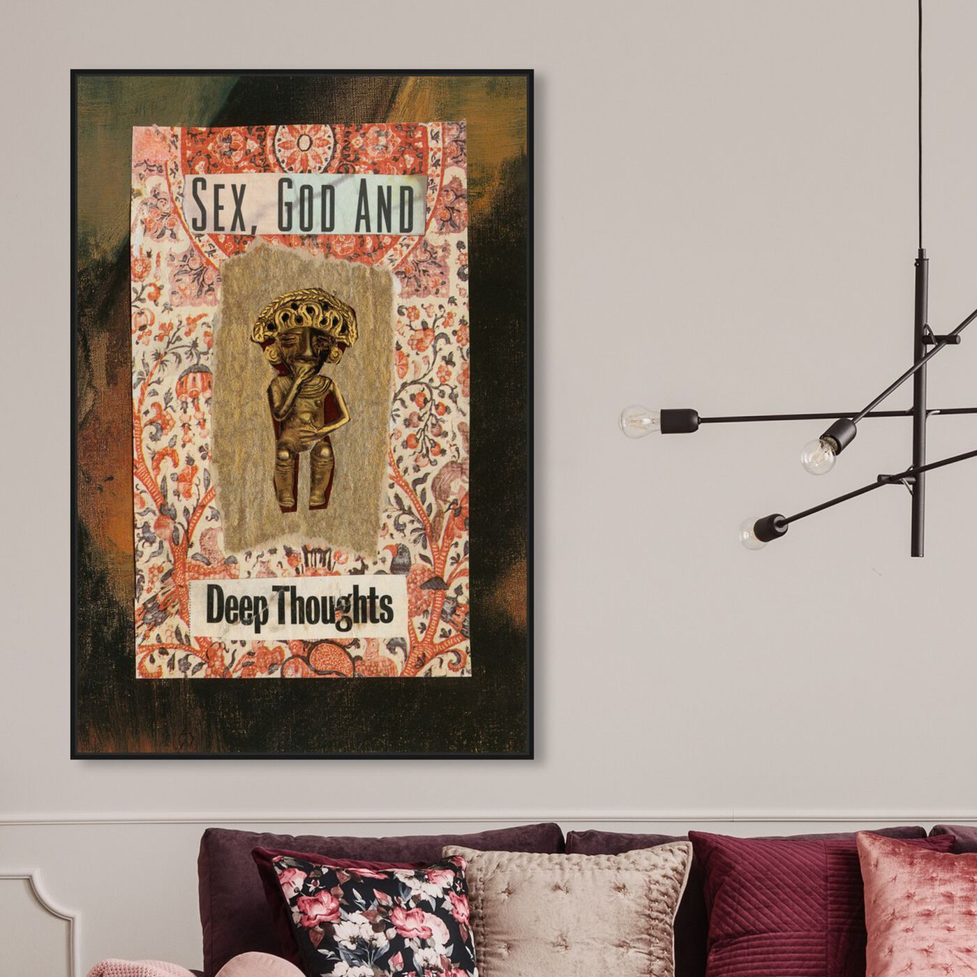Hanging view of Deep Thoughts by Anne Wadsworth featuring world and countries and hispanic culture art.