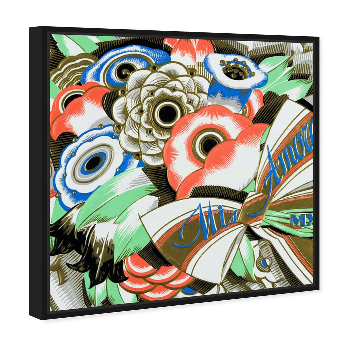 Angled view of Amore 1920s featuring floral and botanical and florals art.