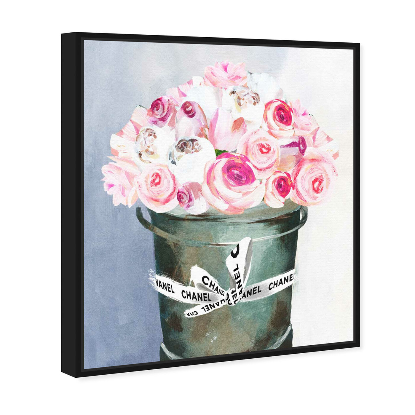 Angled view of Bucket Full of Scent featuring floral and botanical and florals art.