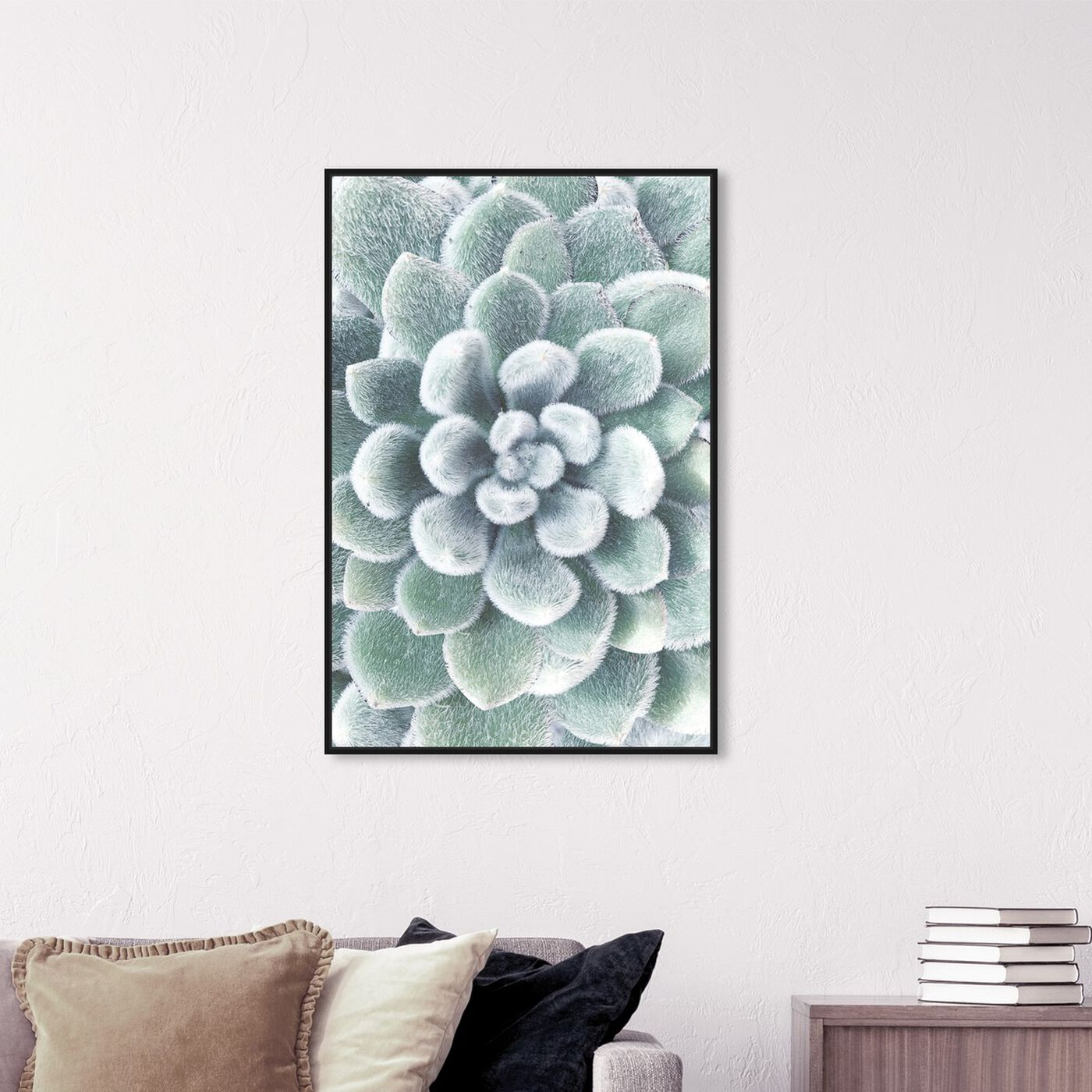 Hanging view of Succulent Zoom IV featuring floral and botanical and botanicals art.