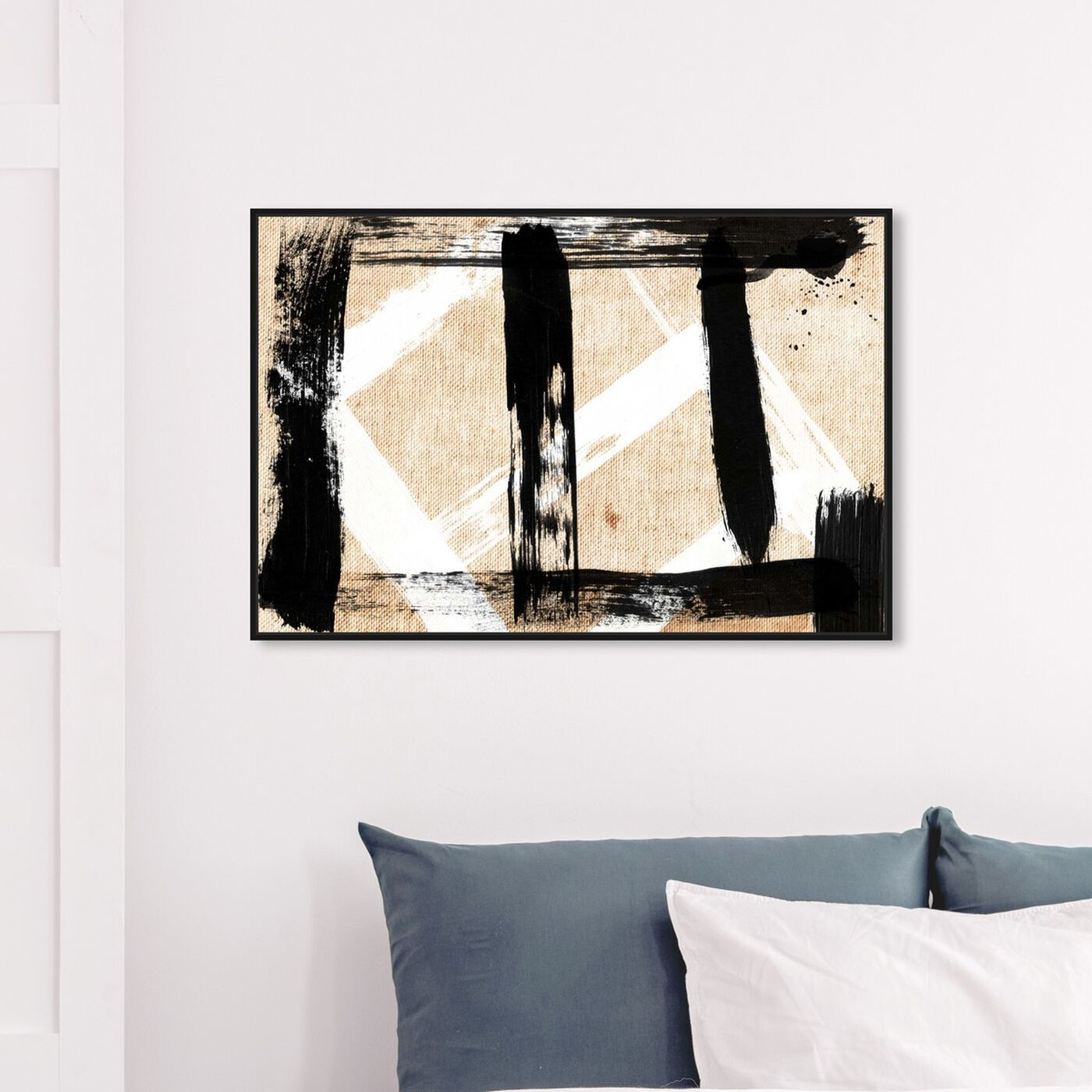 Hanging view of Five Vix featuring abstract and paint art.