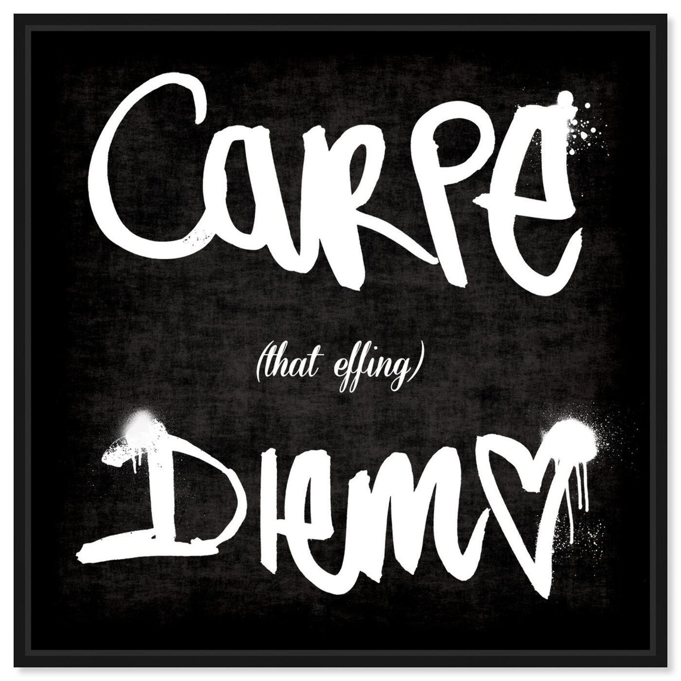 Front view of Carpe That Effing Diem featuring typography and quotes and quotes and sayings art.