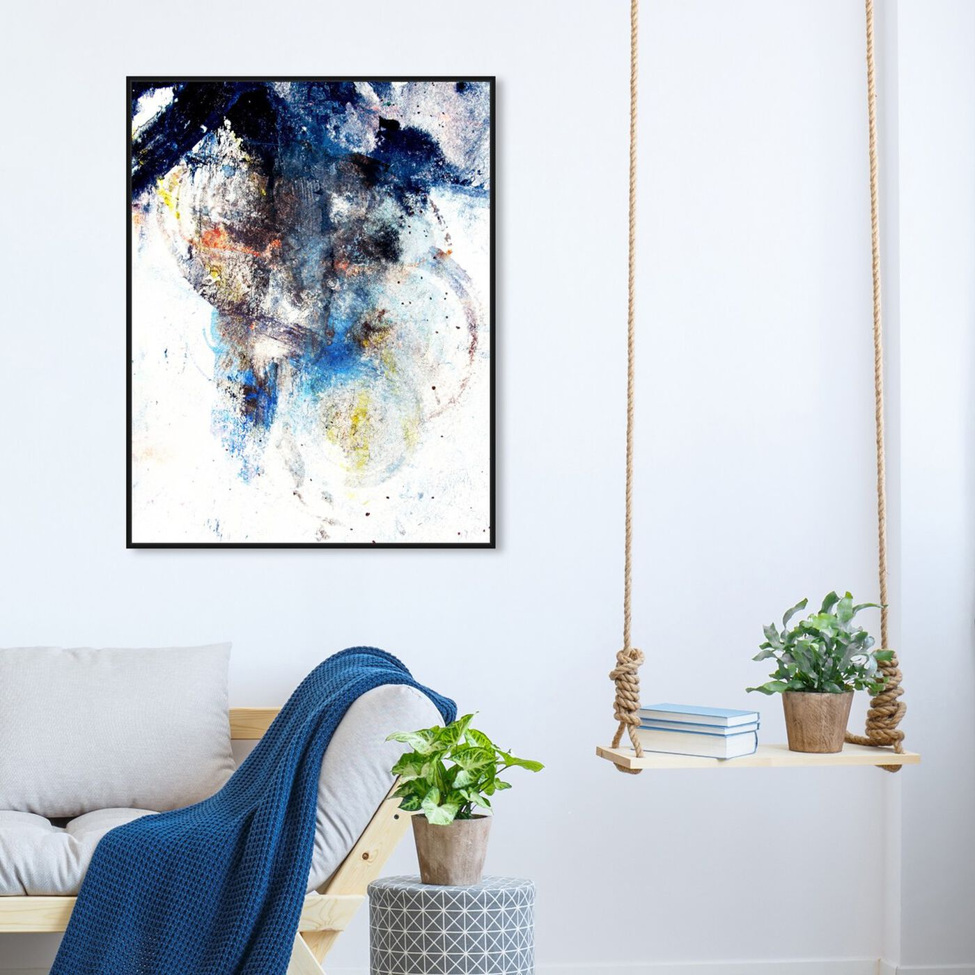 Hanging view of Snow Storm featuring abstract and paint art.