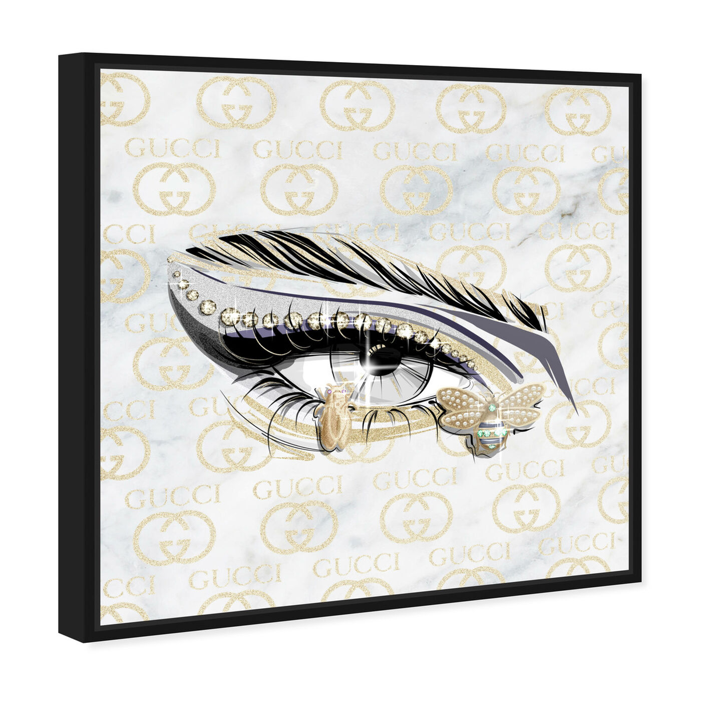 Angled view of Couture Eye I featuring fashion and glam and makeup art.