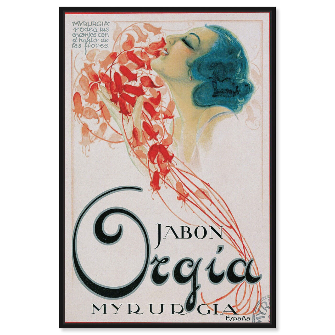 Front view of Orgia Vintage Soap Ad featuring advertising and posters art.