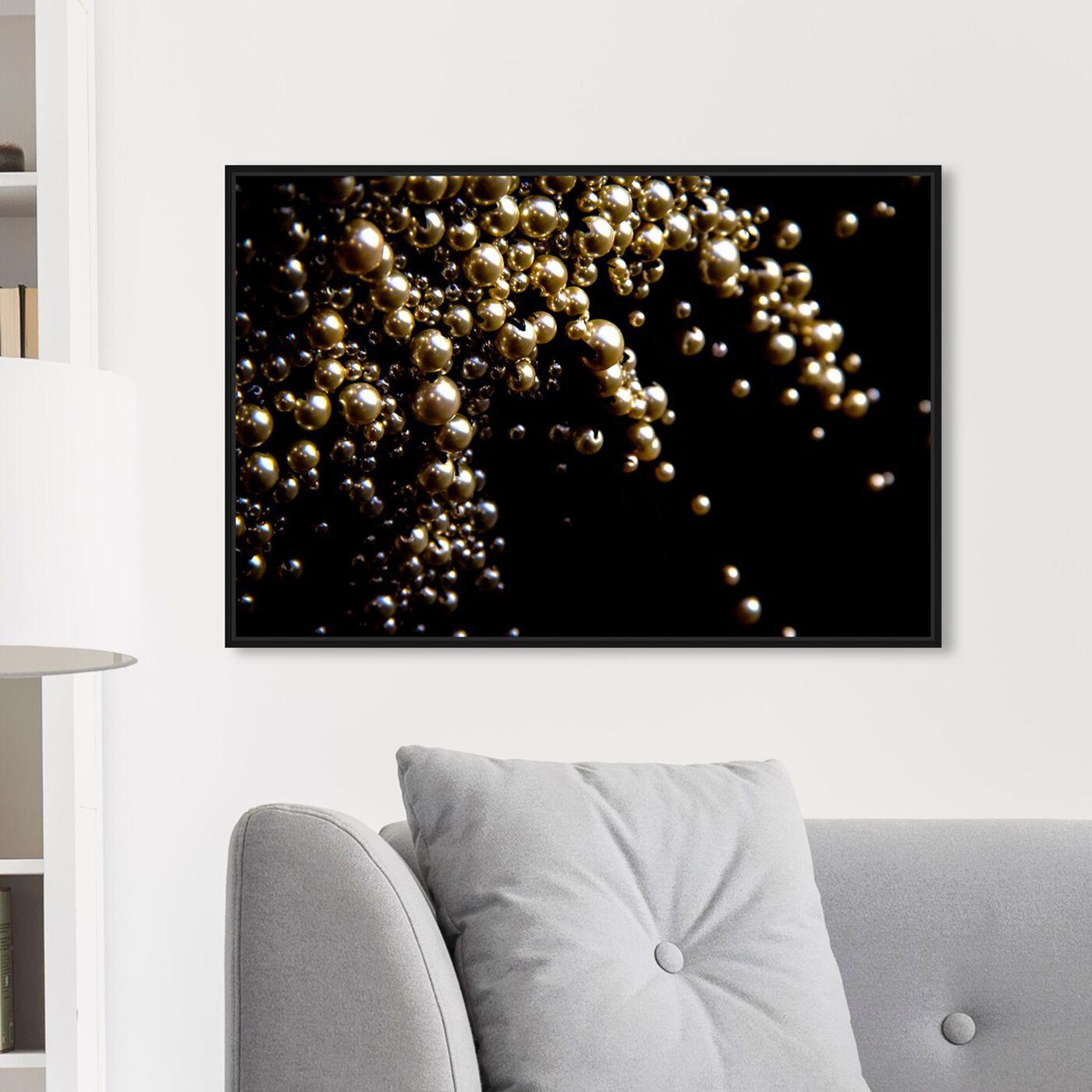 Hanging view of Mark Zunino - Raining Beads II featuring fashion and glam and jewelry art.