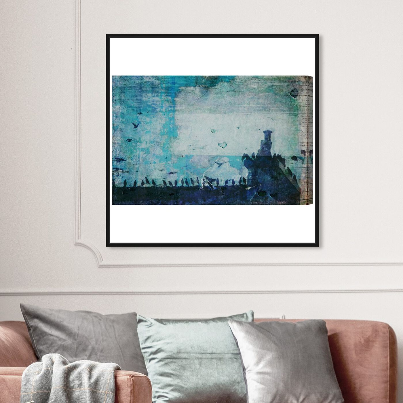 Hanging view of Morning in Florence featuring nature and landscape and country landscapes art.