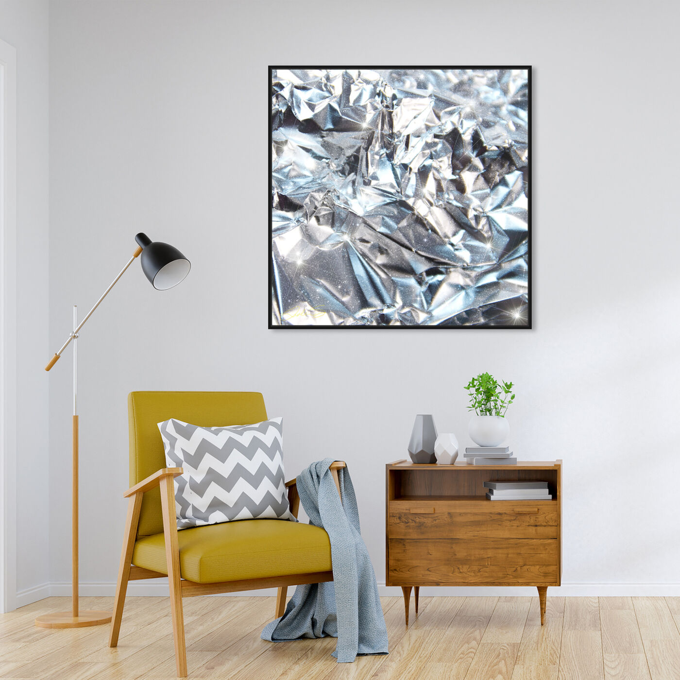 Hanging view of Future Skies featuring abstract and textures art.