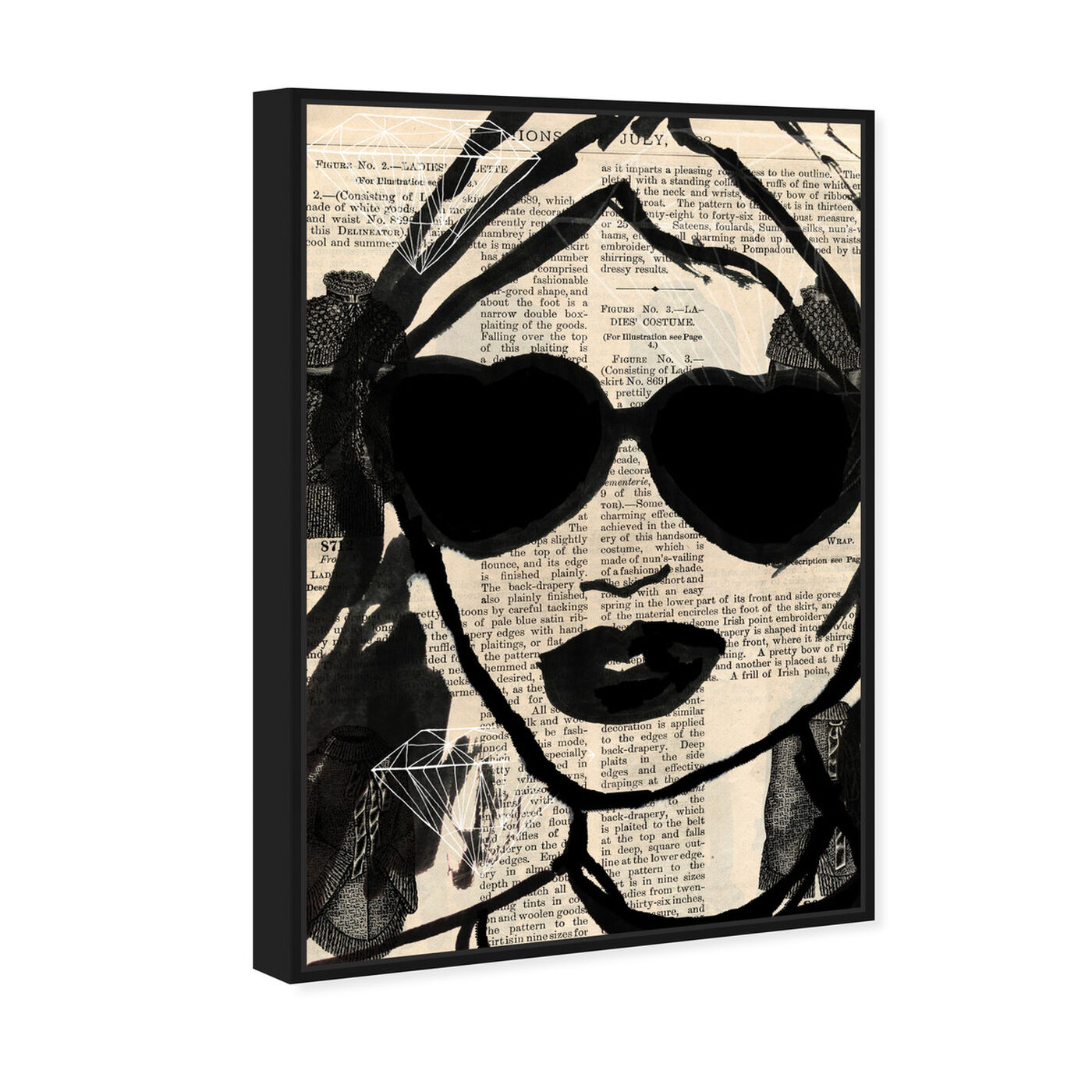 Angled view of Bijoux featuring fashion and glam and portraits art.