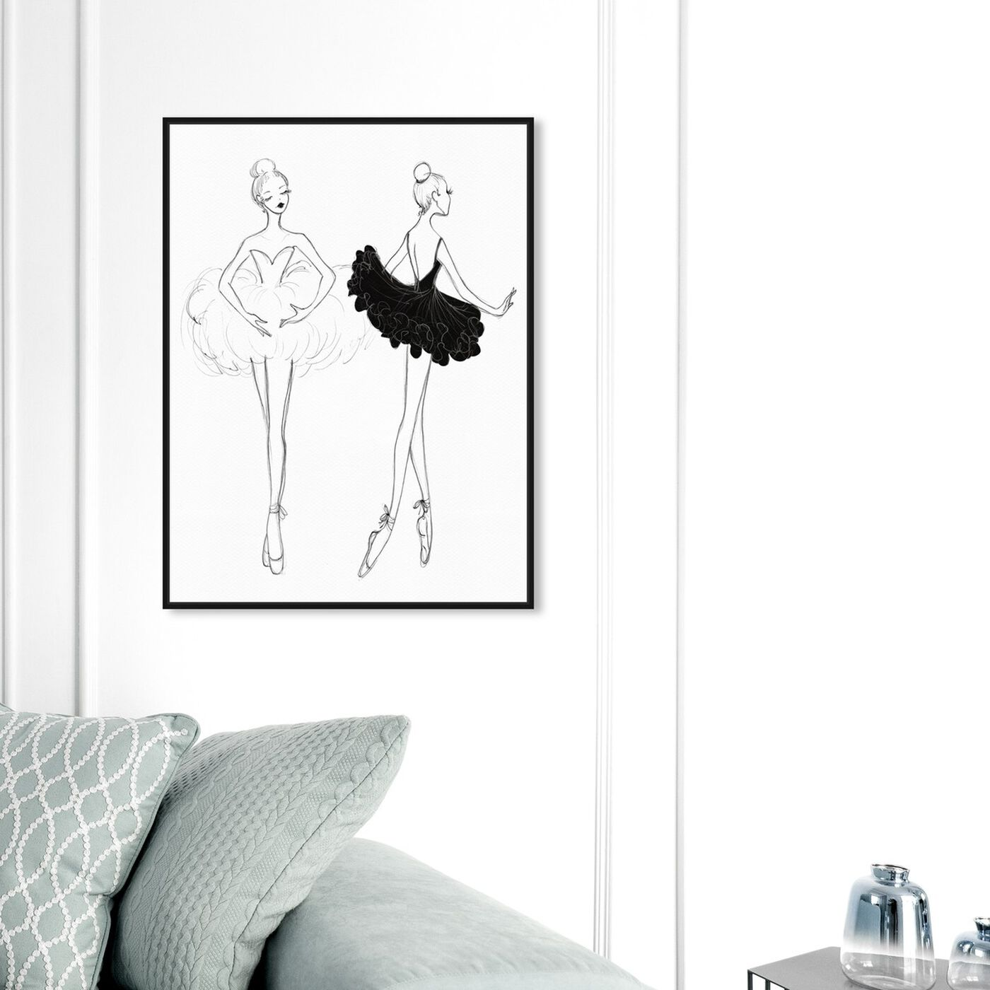 Hanging view of Ballerina Sketch IV featuring sports and teams and ballet art.