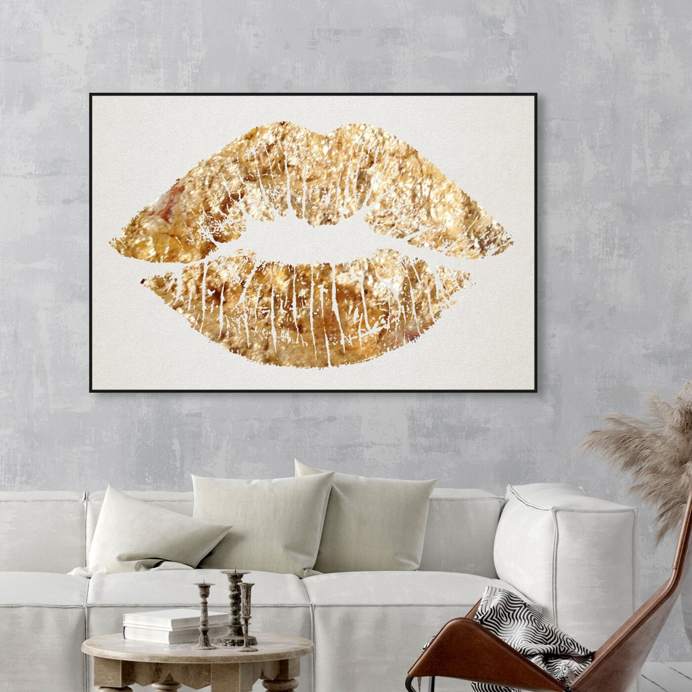 Hanging view of Solid Kiss featuring fashion and glam and lips art.