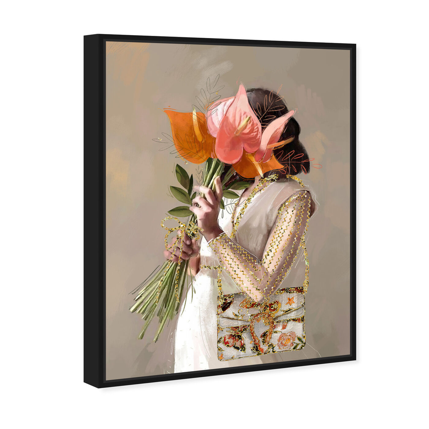 Angled view of Lilies for Her featuring floral and botanical and florals art.