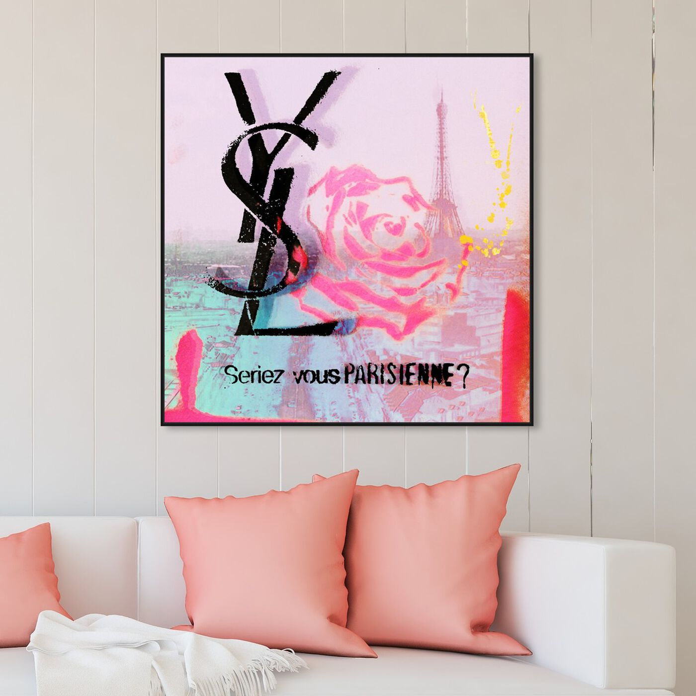 Hanging view of Parisienne featuring fashion and glam and lifestyle art.