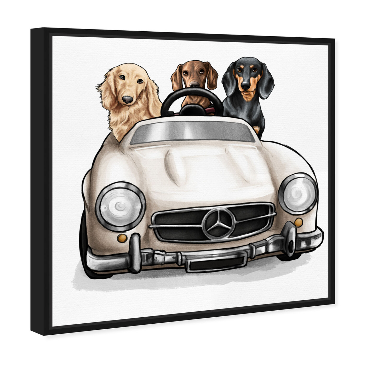 Angled view of Strolling in Style dachshunds featuring animals and dogs and puppies art.