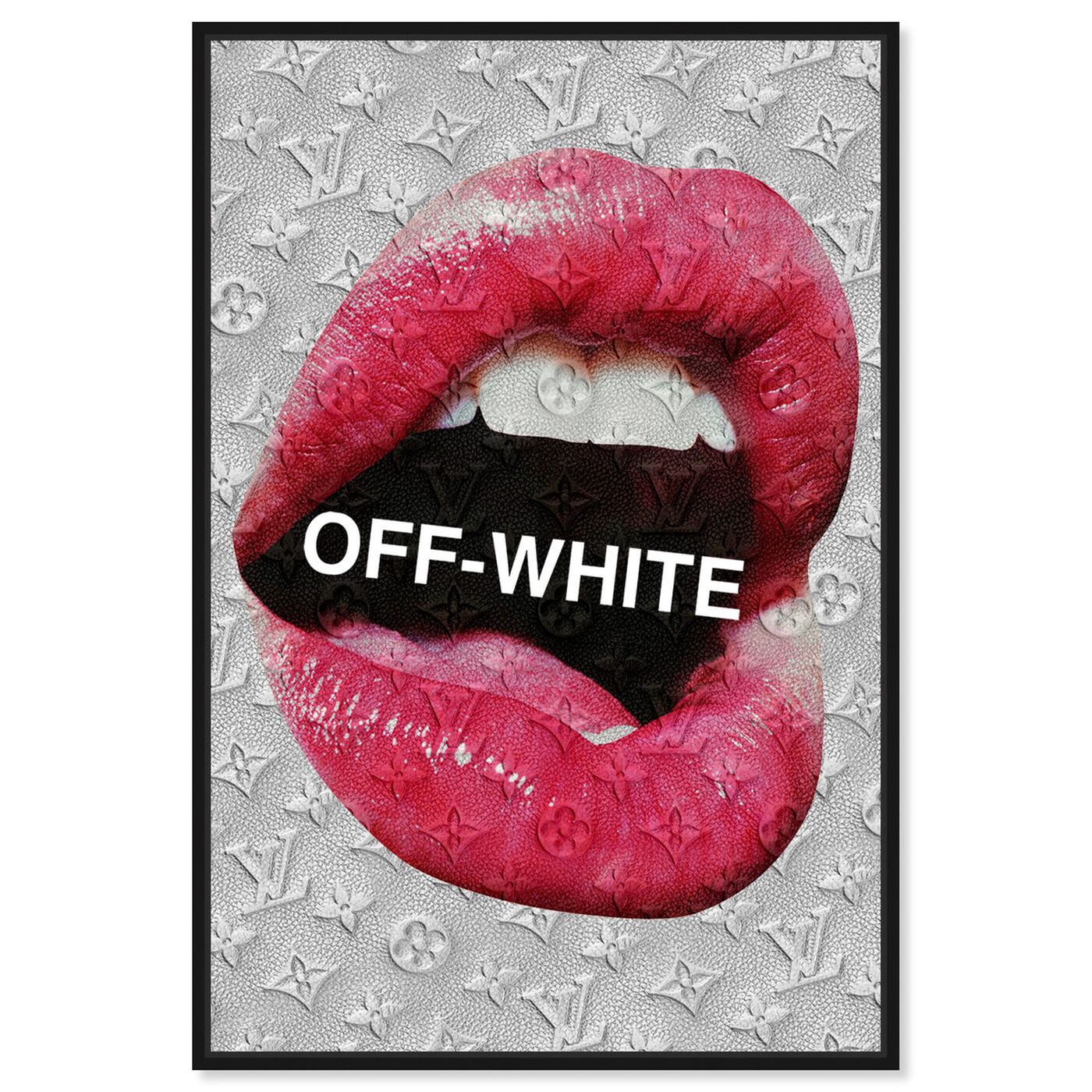 Front view of OFF Lips featuring fashion and glam and lips art.