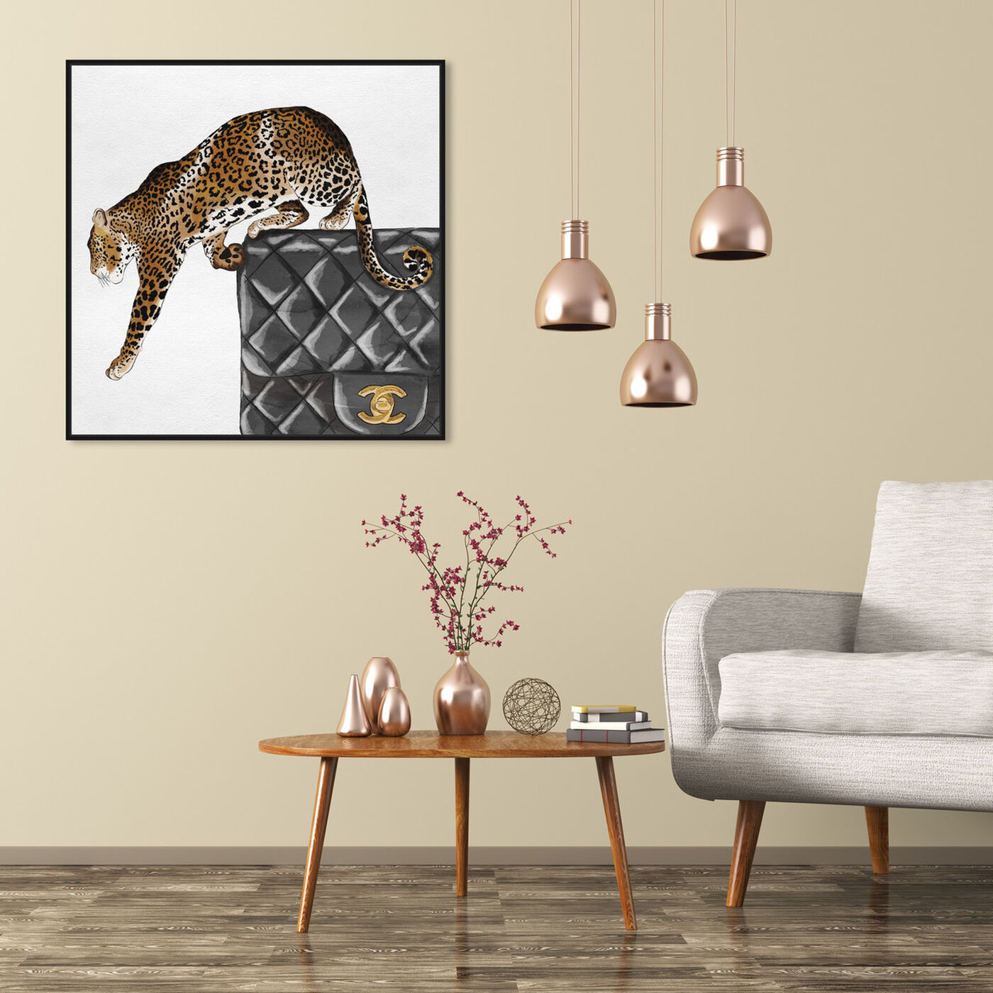 Hanging view of Exotic Love I featuring fashion and glam and handbags art.