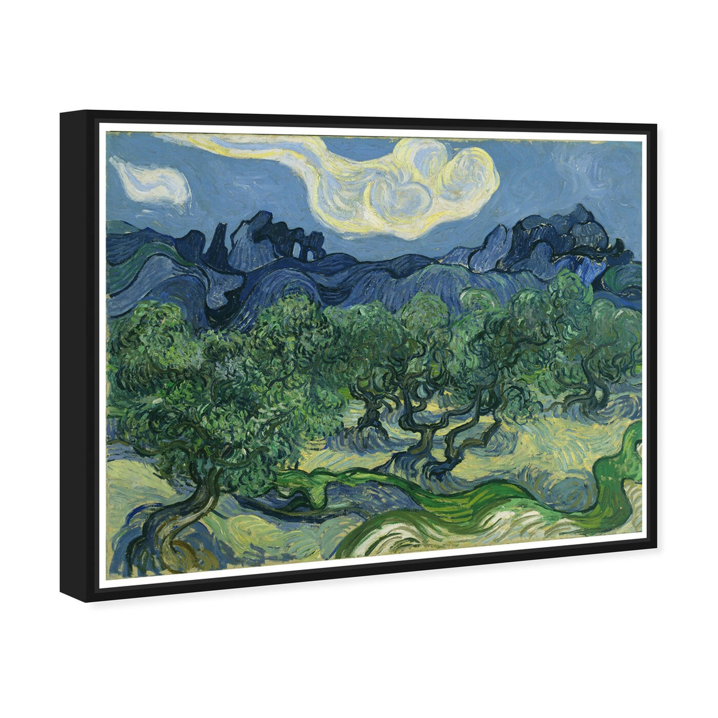 Angled view of Van Gogh - The Olive Trees featuring classic and figurative and impressionism art.