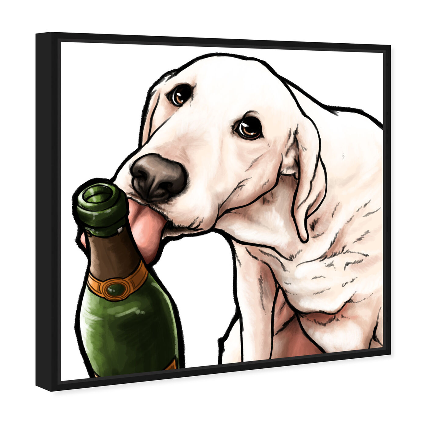 Angled view of Lab and Bubbly featuring animals and dogs and puppies art.