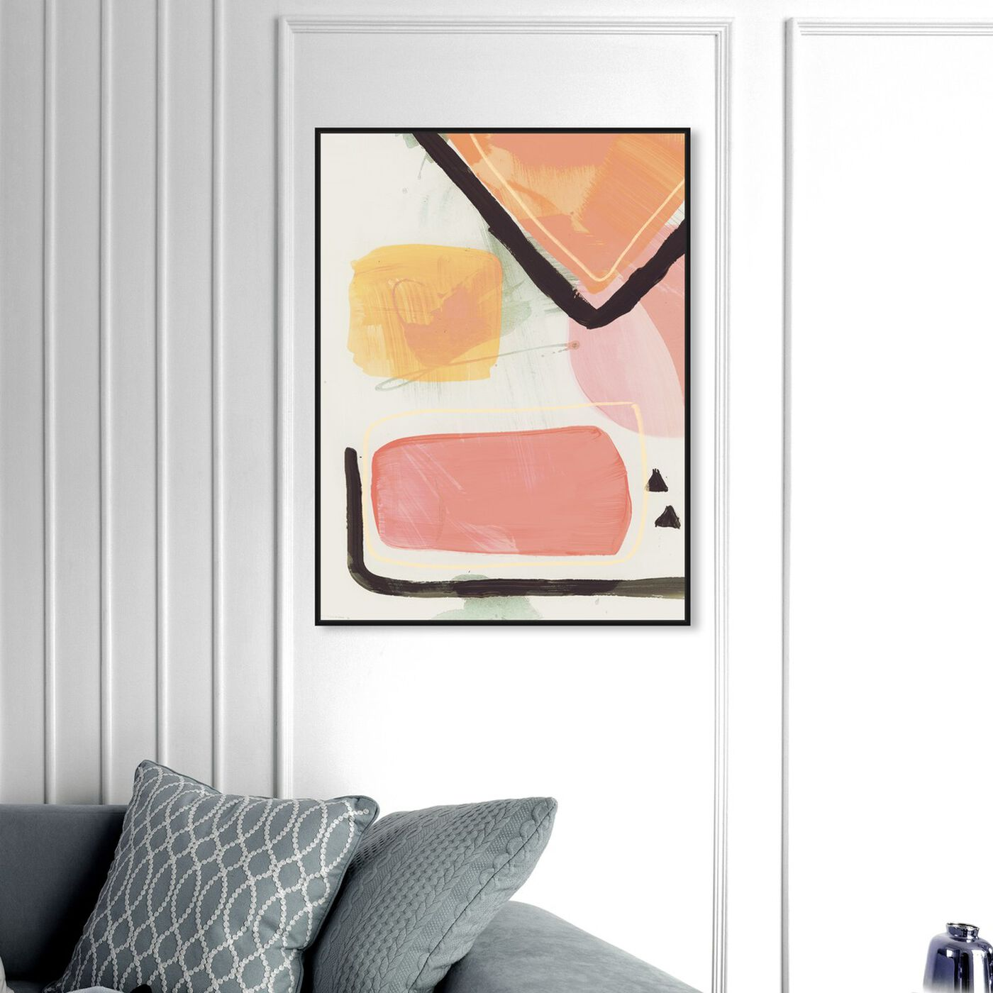 Hanging view of Convince Your Lover featuring abstract and paint art.
