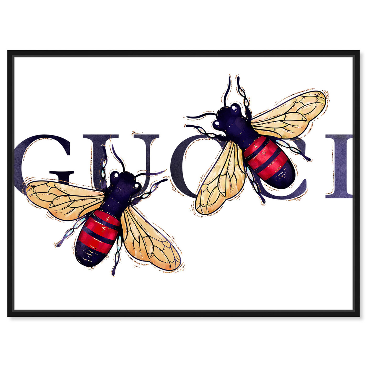 Front view of Stylish Bumble Bee Patch featuring fashion and glam and fashion art.