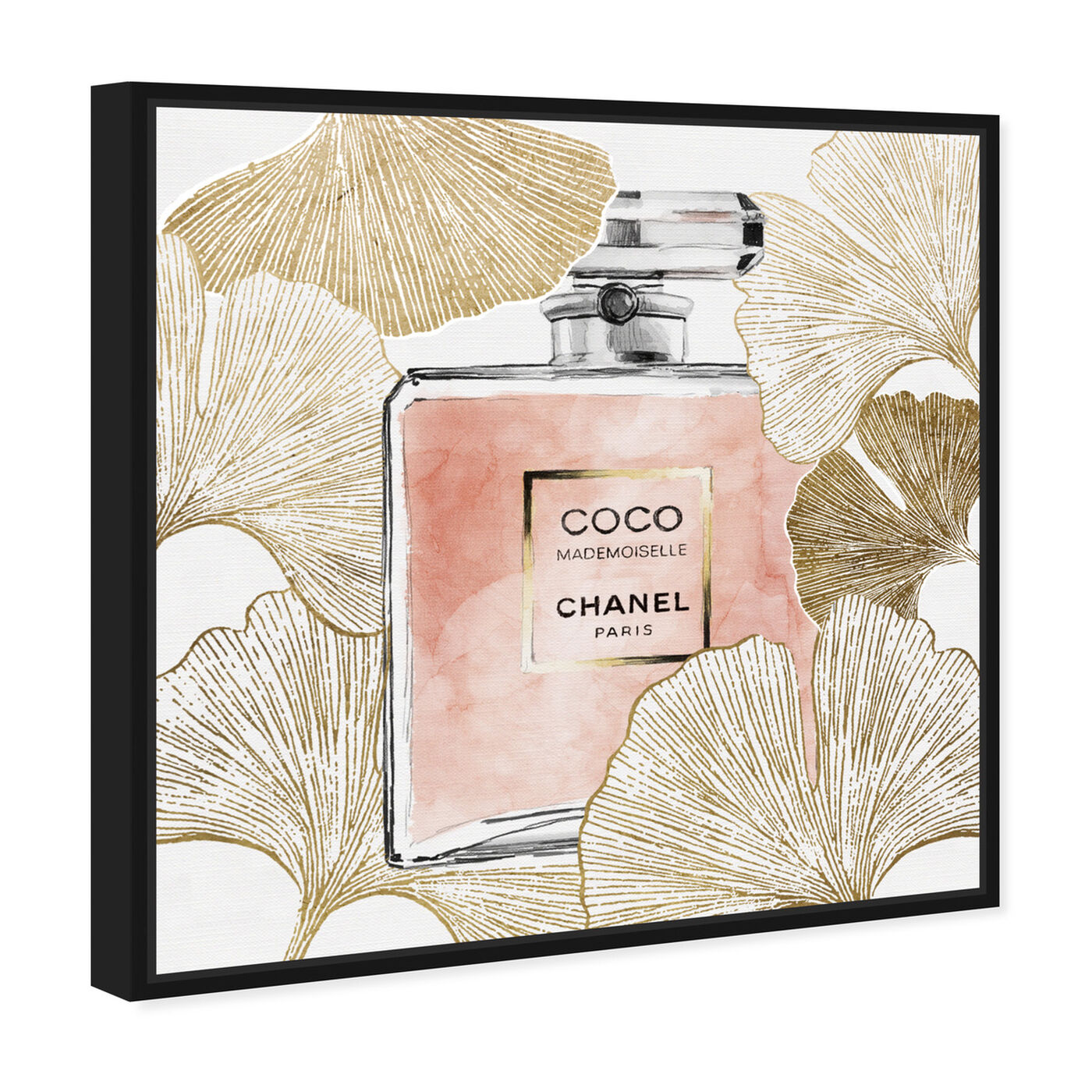 Angled view of Gold Ginkcoco featuring fashion and glam and perfumes art.