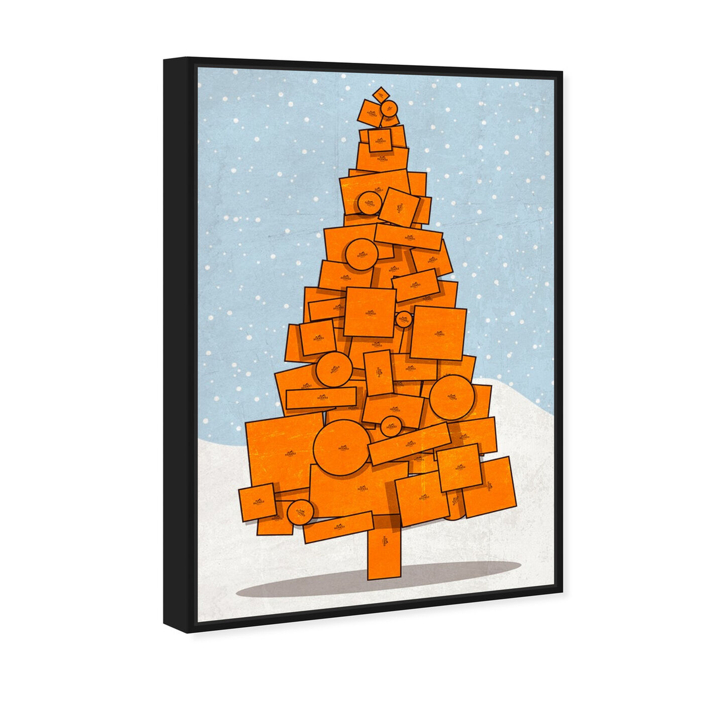 Angled view of Orange Christmas featuring fashion and glam and lifestyle art.