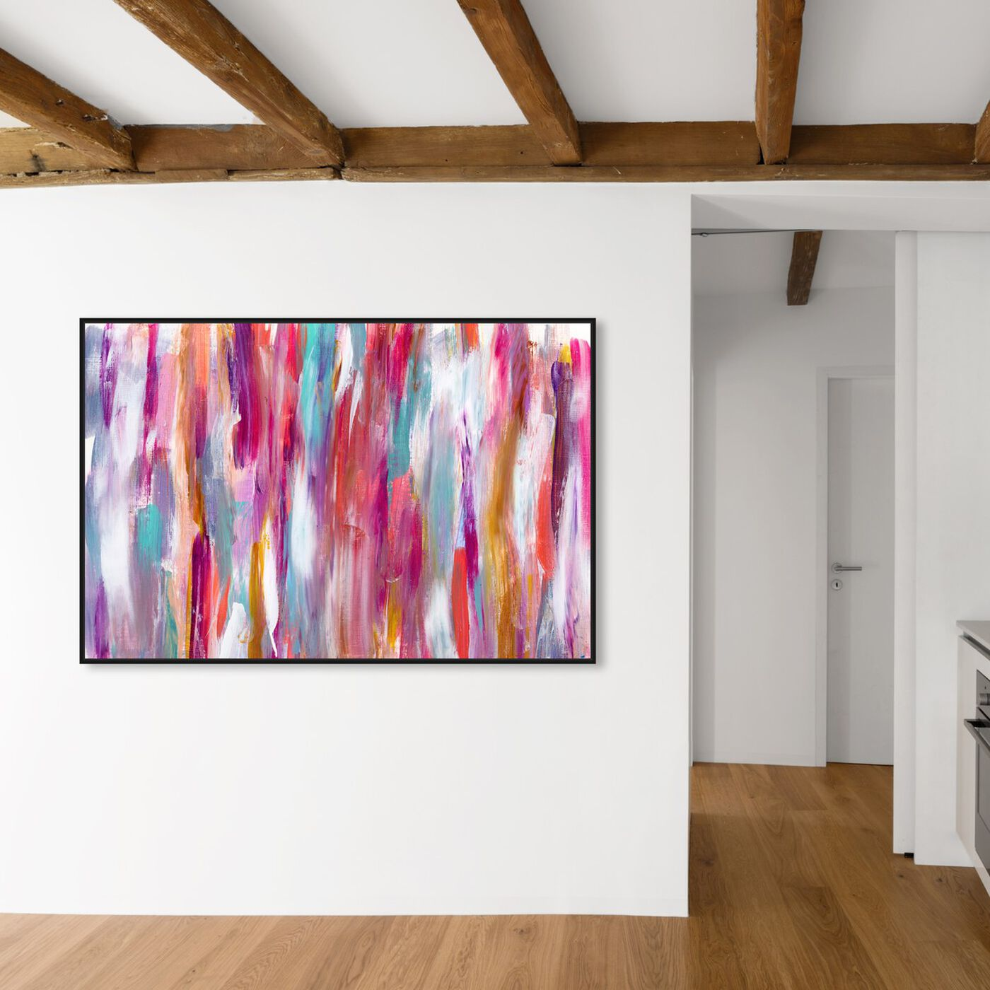 Hanging view of Crush and Love featuring abstract and paint art.