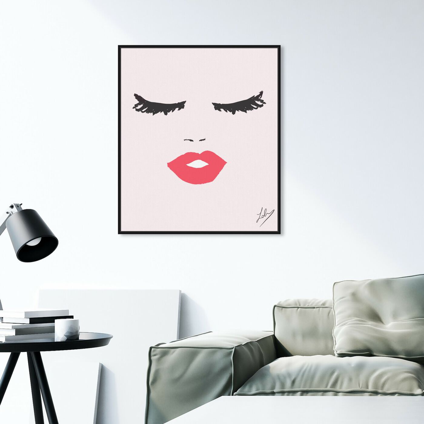 Hanging view of Fashionista Face featuring fashion and glam and portraits art.