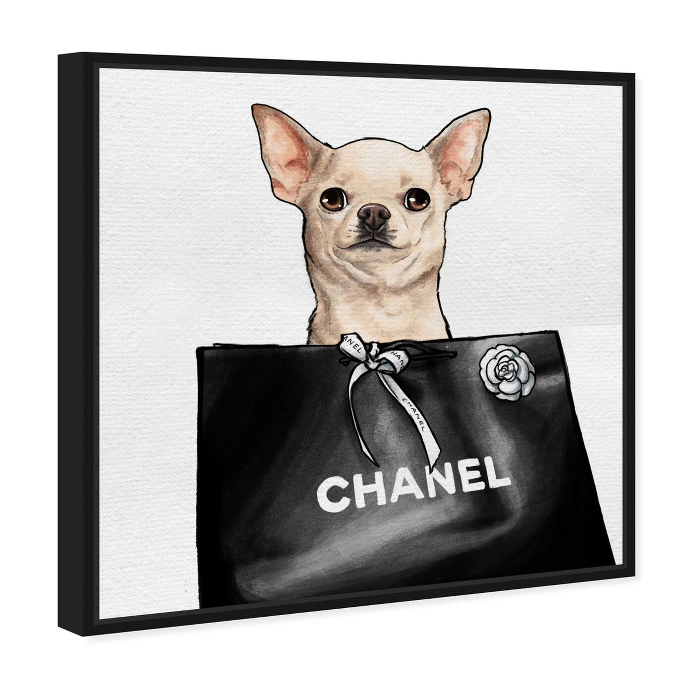 Angled view of Chihuahua Glam II featuring animals and dogs and puppies art.