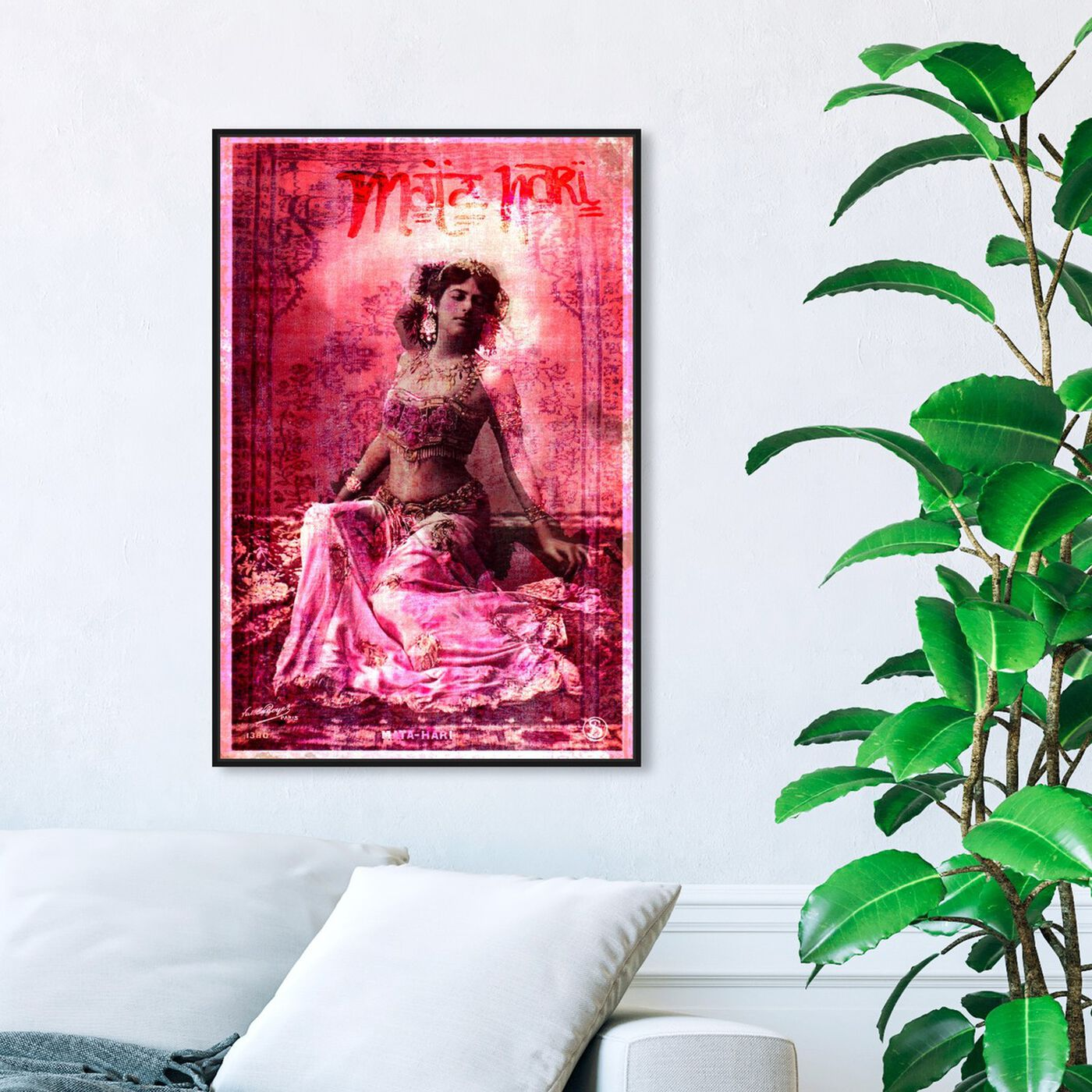 Hanging view of Mata Hari featuring people and portraits and celebrities art.