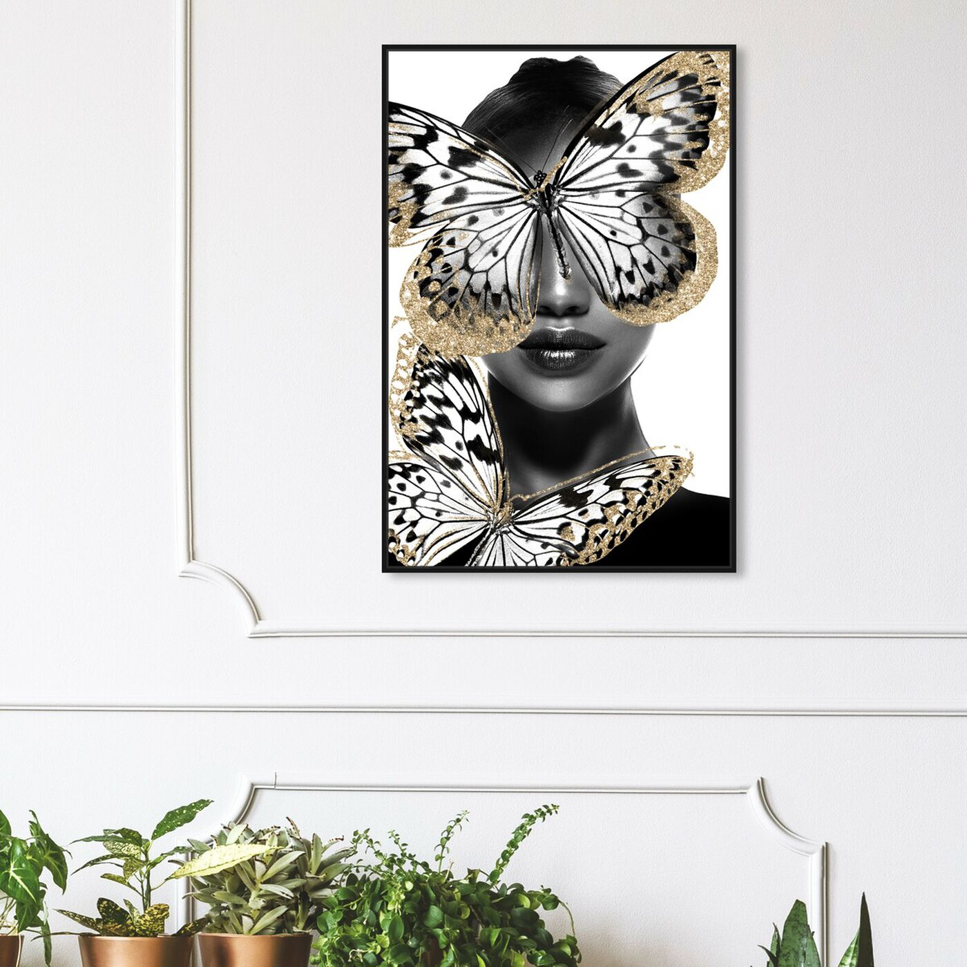 Hanging view of Royalty of Wings featuring fashion and glam and portraits art.