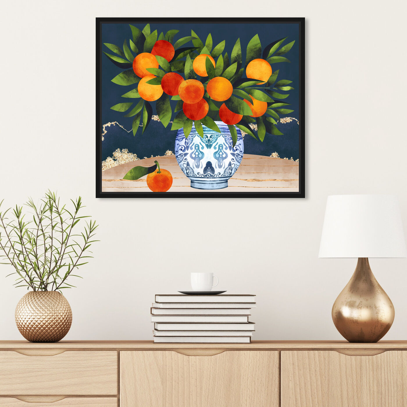 Hanging view of Fruits and Porcelain featuring food and cuisine and fruits art.