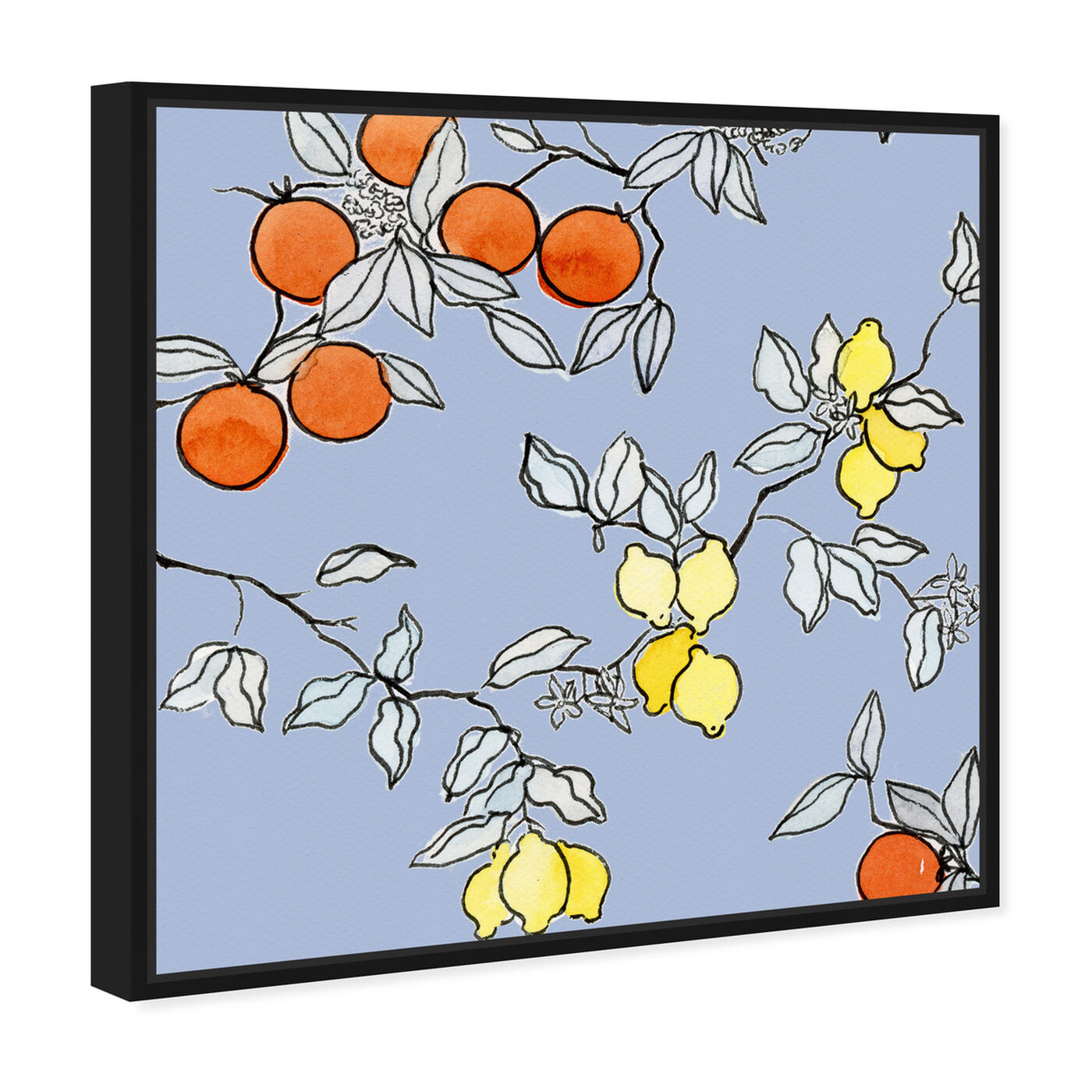 Angled view of Lemon tree featuring food and cuisine and fruits art.