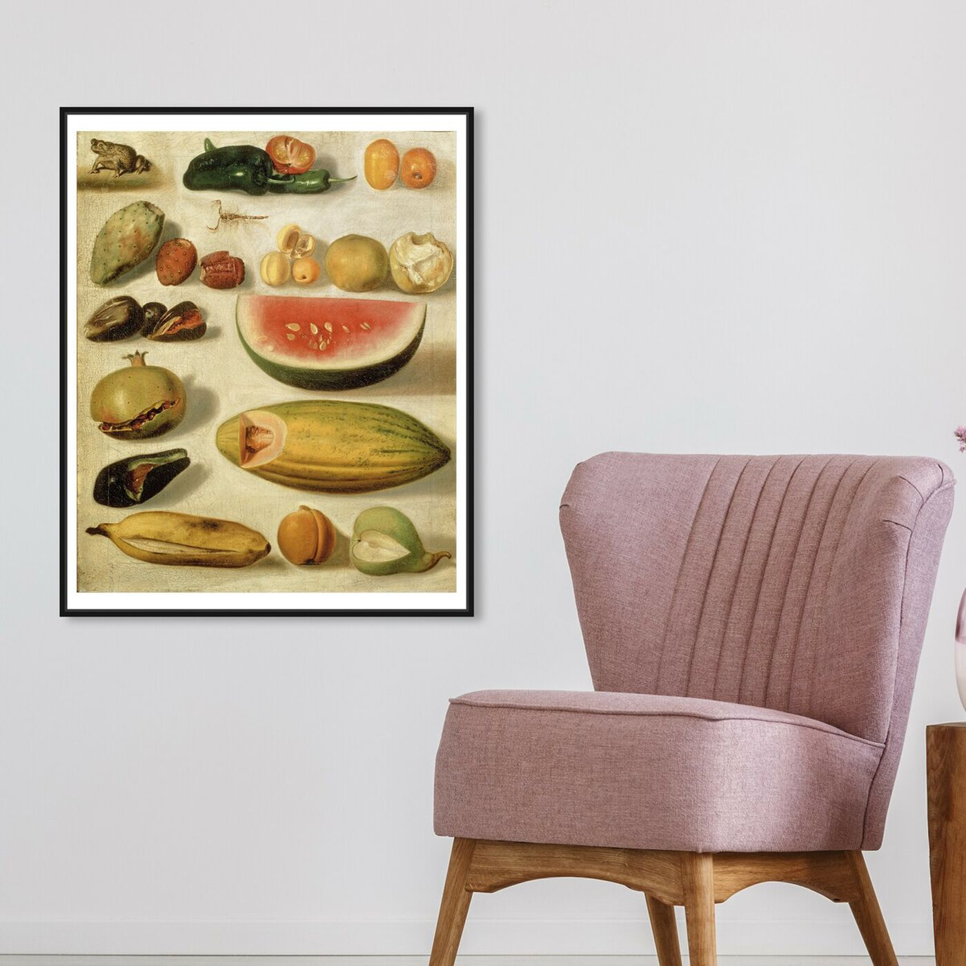 Hanging view of Bustos - Still Life With Fruit featuring classic and figurative and impressionism art.