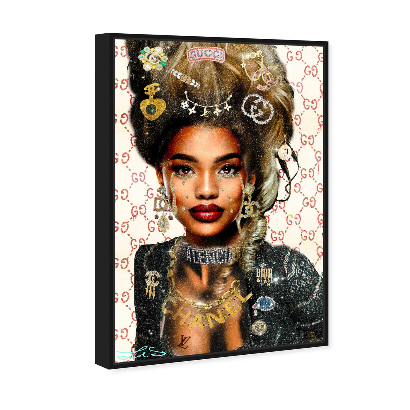 Angled view of Real Queen of Everything featuring fashion and glam and fashion lifestyle art.