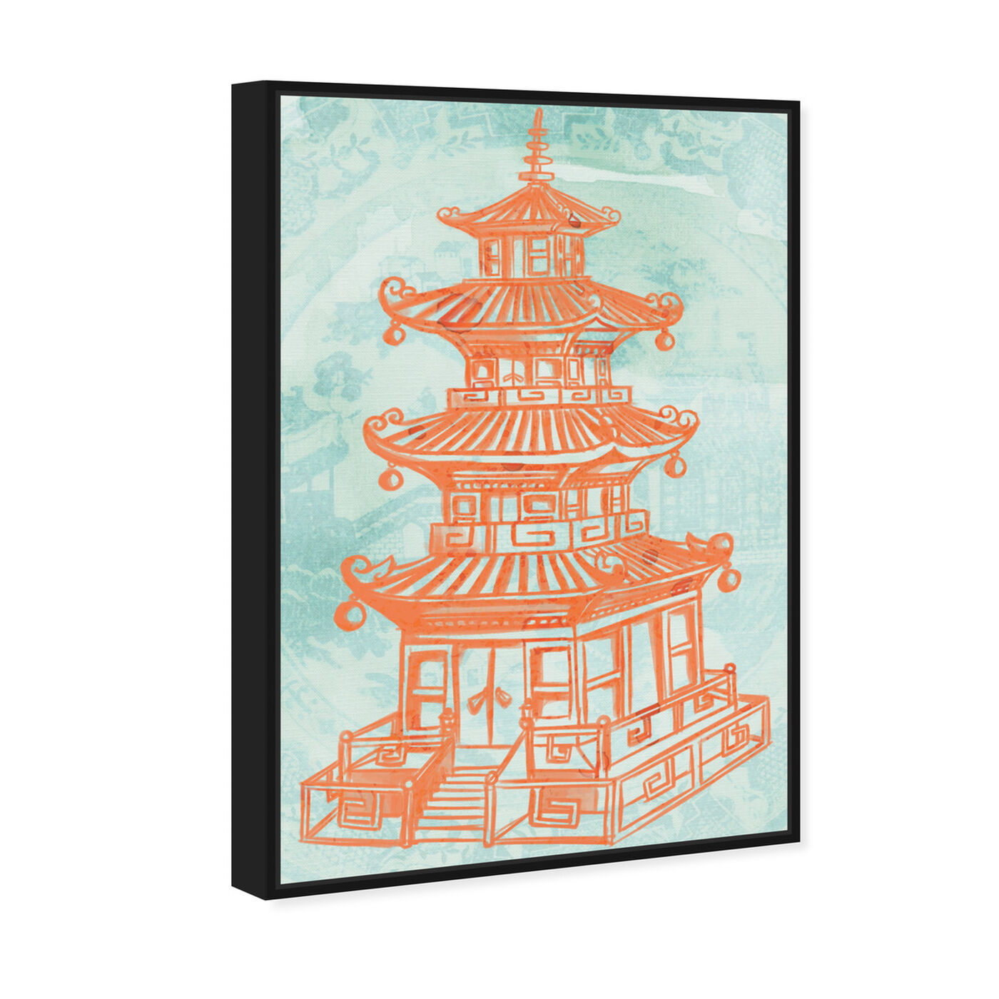 Angled view of Pagoda Lagoon featuring world and countries and asian cultures art.