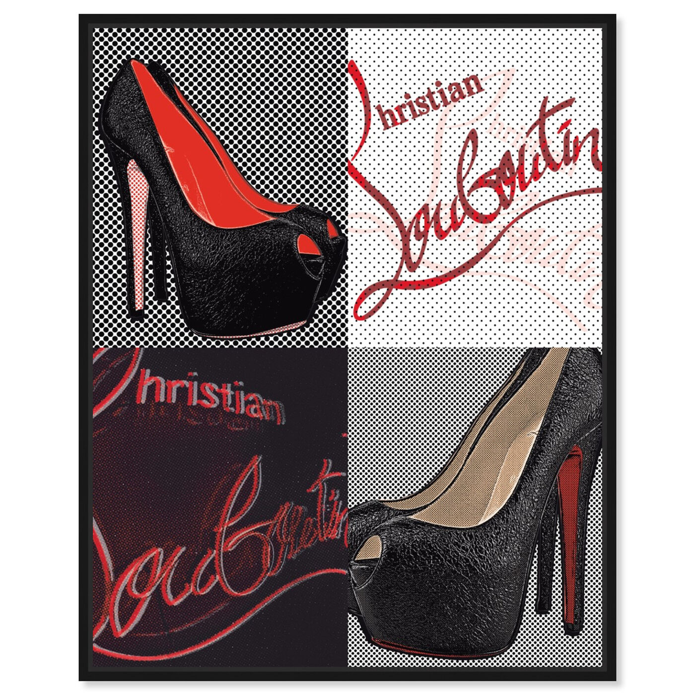 Front view of Red Soles I featuring fashion and glam and shoes art.