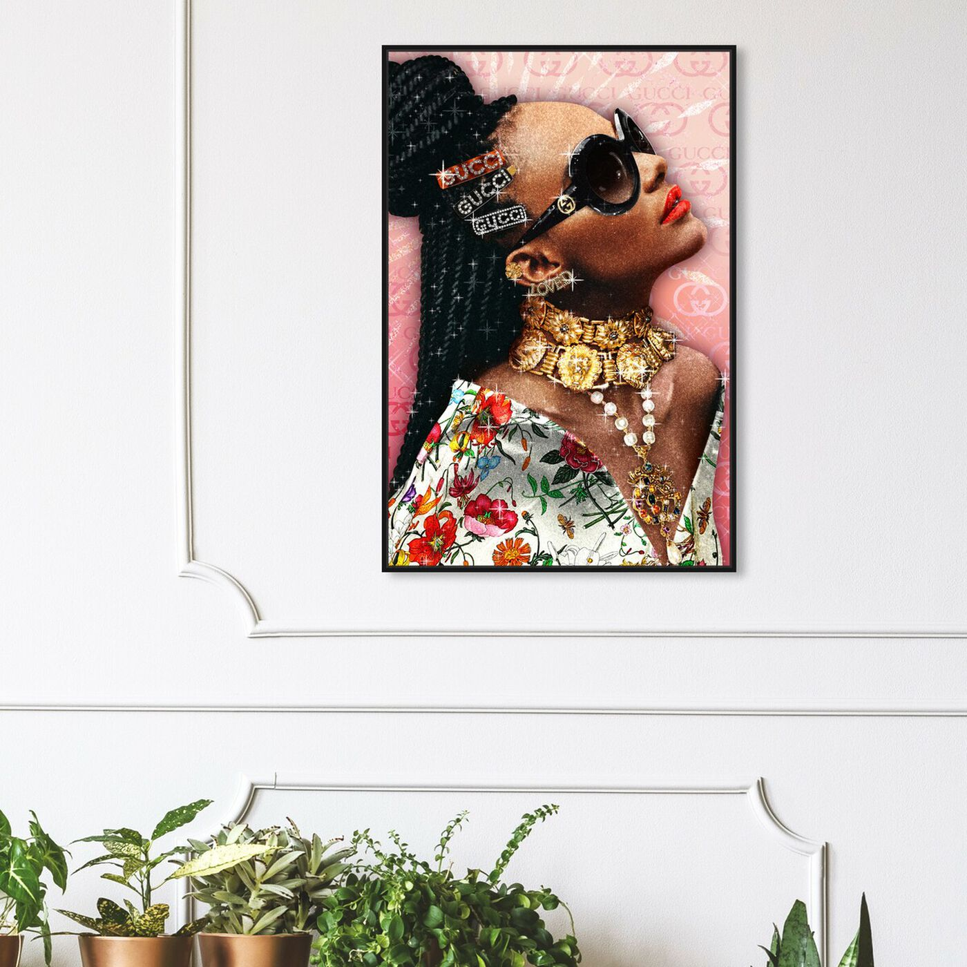 Hanging view of Casual Friday featuring fashion and glam and accessories art.
