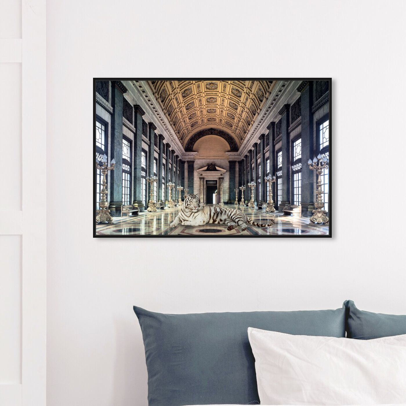 Hanging view of Resting in my Palace featuring architecture and buildings and structures art.