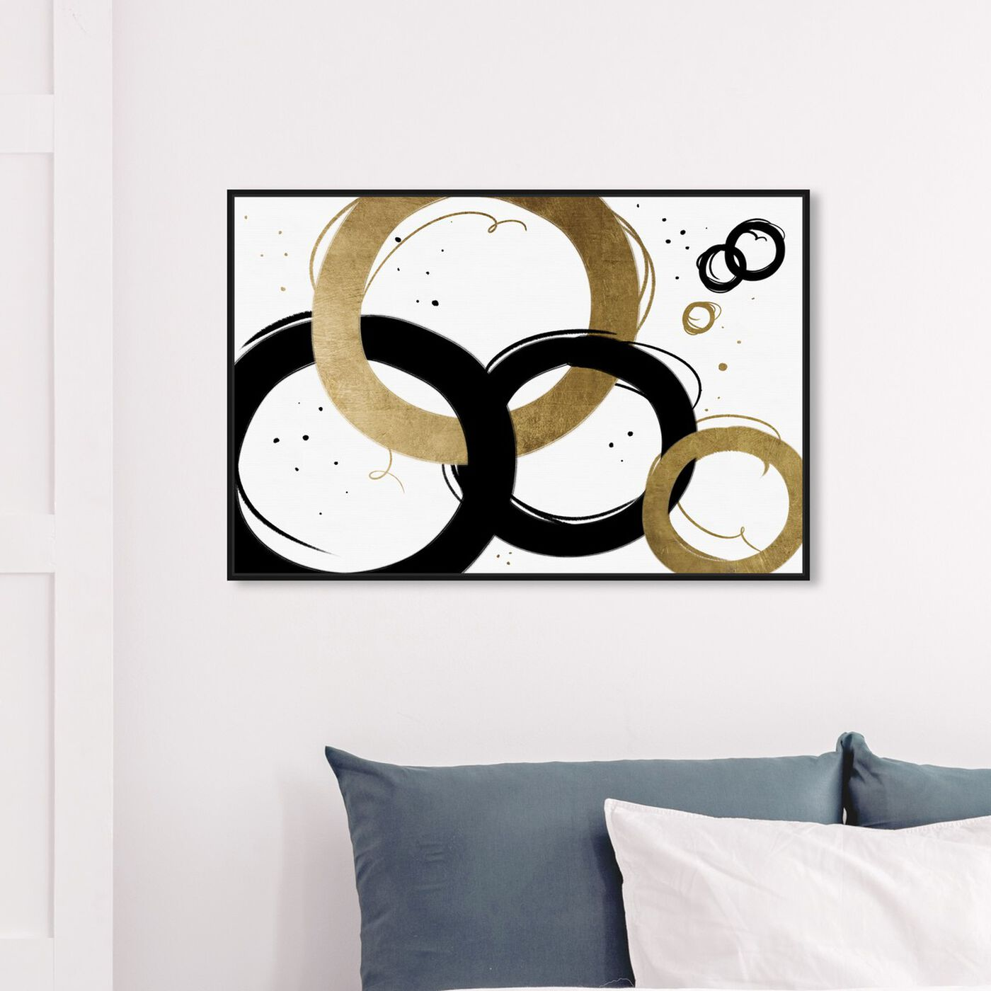 Hanging view of Infinite Circles featuring abstract and geometric art.