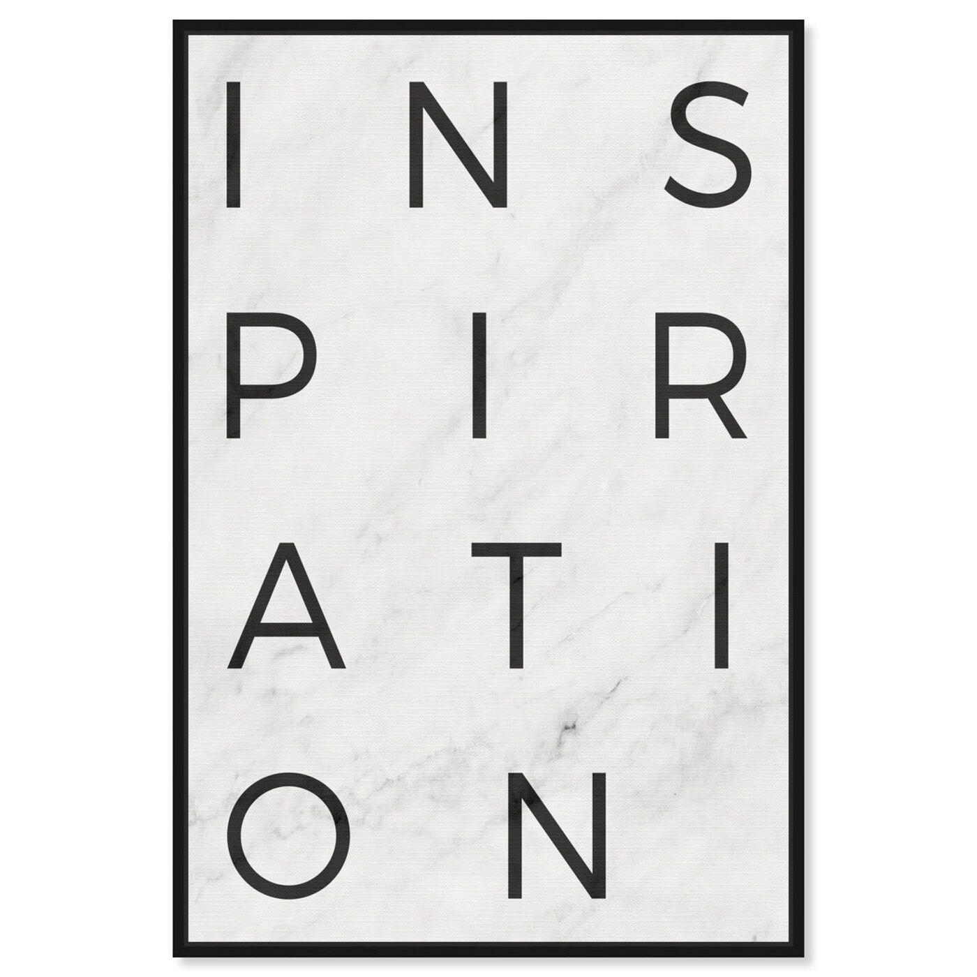 Front view of Inspiration Minimalist Marble Paper featuring typography and quotes and inspirational quotes and sayings art.