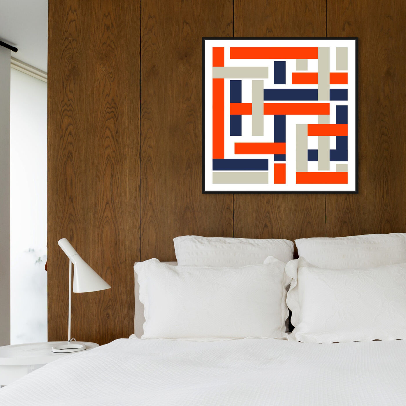 Hanging view of Gorce featuring abstract and geometric art.