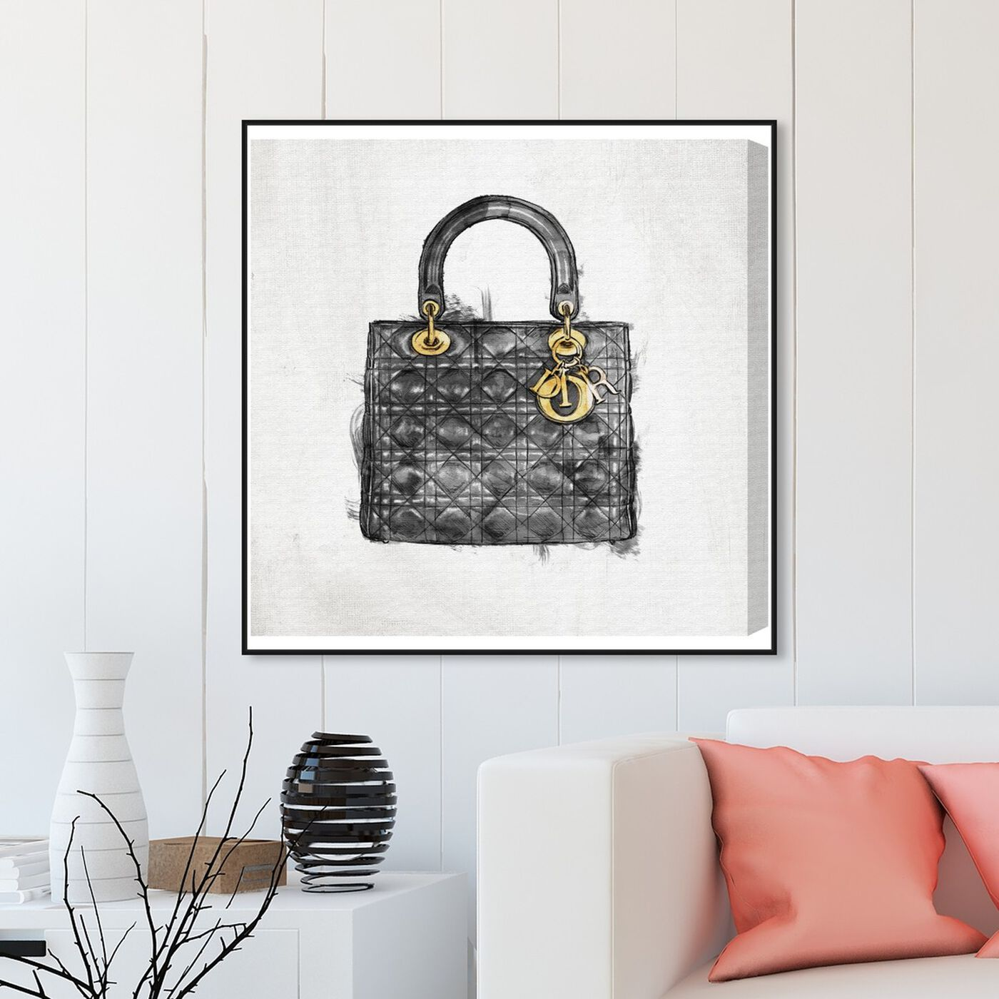 Hanging view of Christian's Essentials Black featuring fashion and glam and handbags art.