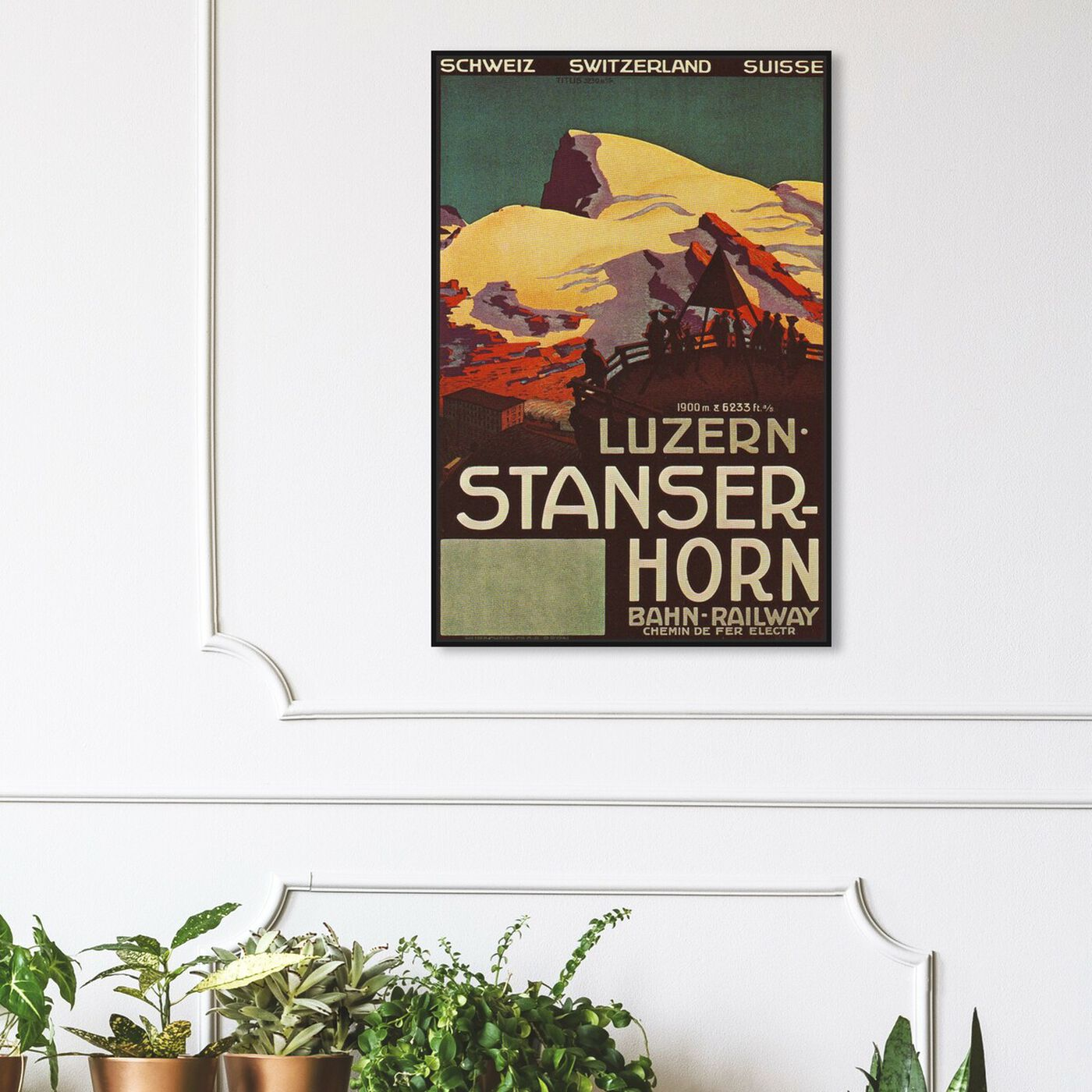 Hanging view of Stanser Horm featuring advertising and posters art.