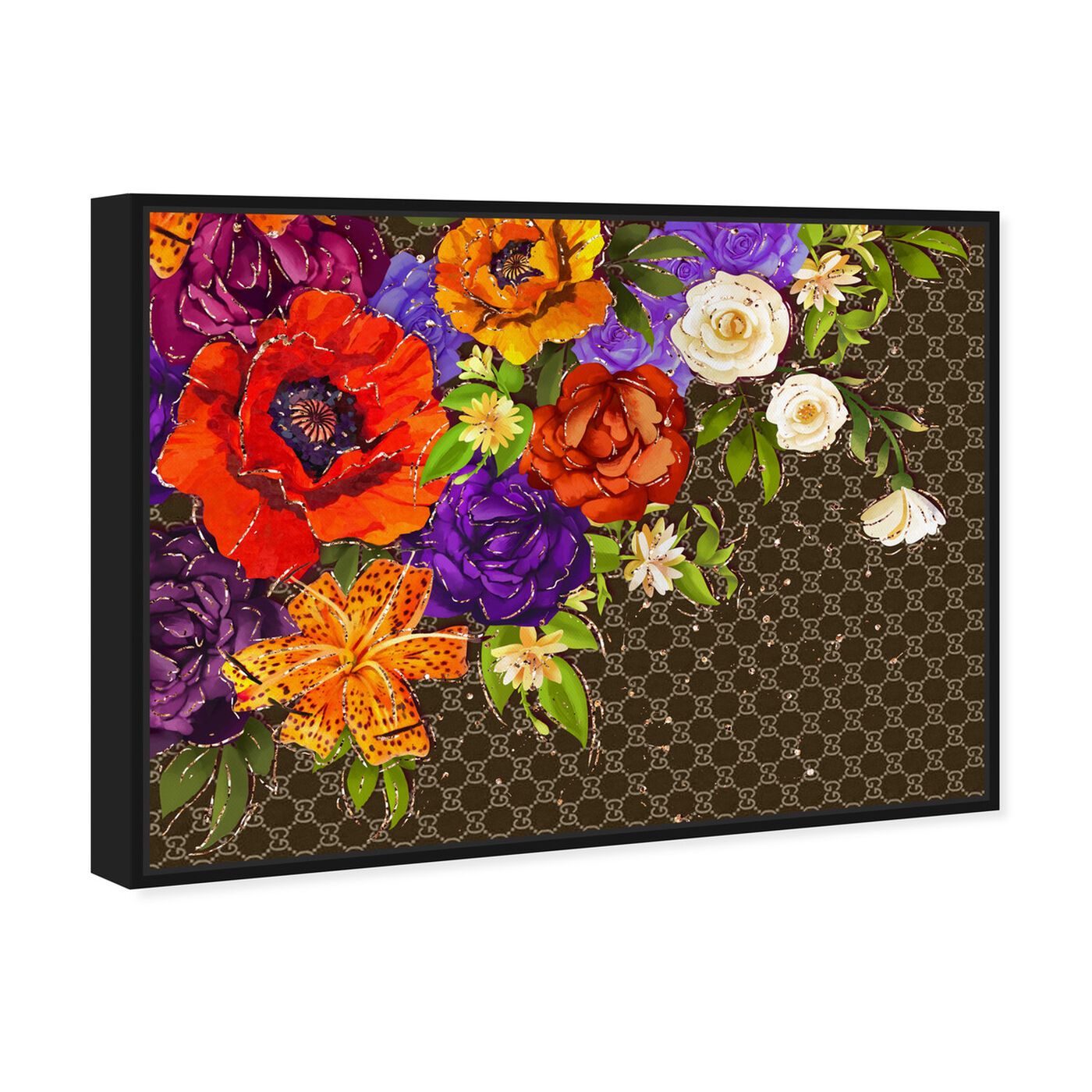 Angled view of Firenze Fashion Floral featuring floral and botanical and florals art.